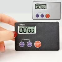 포켓 신용 카드 크기 주방 타이머 디지털 카운트 다운 타이머 카운트 다운 알람 시계 주방 도구 ZA5895