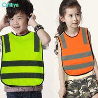 Kinder Hohe Sichtbarkeit Woking Sicherheitsweste 5 Farben Straßenverkehr Arbeitsweste Grün Reflektierende Sicherheitskleidung Für Kinder Studenten