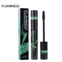 FLAMINGO Brand Curling e Thick Waterproof Mascara Rimel Volume Make up Cosmetici Mascara Ciglia colossali neri