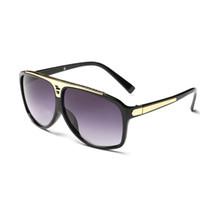 Promozione Marchio di moda di alta qualità Moda vintage donna uomo designer di marca in metallo lucido oro frame GRANDE TELAIO NERO 0350 MOQ = 10pcs
