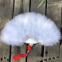 Feather hand fans wedding favors party dance fan bridesmaid ...