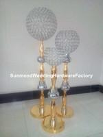 Blumen-Standgehweg der speziellen Art neuer Kristallgoldblume für Hochzeitstisch oder Bodendekoration