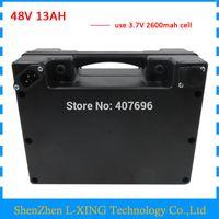 48volt скутер батарея 48V 13AH 48 V ebike литий-ионный аккумулятор 13AH с водонепроницаемым черным корпусом 20A BMS 2a зарядное устройство бесплатная доставка