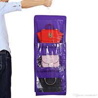 6 Pockets Clear Organizador Hanging Closet Handbag Holder St...