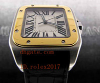 Mens Limited Edition Luxury Mens 100 XL 2 Tone 18K Yellow Gold W20072X7 Automatic Mens Mens Sports Watches