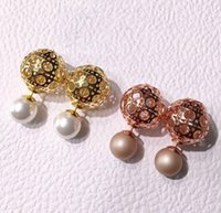 Hot sale lattices ball type ear nail for lady Brand Logo Fas...