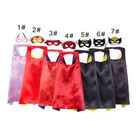 28 styles layer 70*70CM Super hero Capes and mask set Superh...