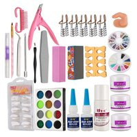 Hot vendita Nail Art Design Set -Mix Colours Acrilico Powder Nail Art Tips Pennello # 27
