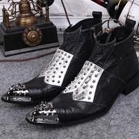 2017 Rivets Men Ankle Boots Winter Botas Hombre Formal Oxfor...