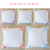 blank pillow case for sublimation flower polyester pillow th...