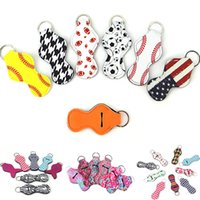 Many Designs Chapstick keychain Holder Blanks Neoprene Baseb...