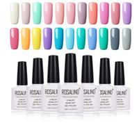 Tırnak Jel 10 ml Saf Renk Tırnak Jel Lehçe Vernis Yarı-Kalıcı Nail Art UV LED Üst Baz Coat Damgalama Jel Vernikleri