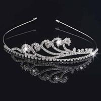 Handgemachte nette Silber Hochzeit Braut Kristall Krone Tiaras Nizza Geschenk Blumenmädchen 11.7 * 3 cm H0016