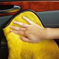 Cor aleatória 45cmx38cm Super Thick Plush de microfibra de limpeza Car Panos Car Care microfibra cera de polimento Detalhamento Toalhas