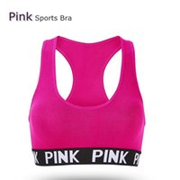 5b1159a9d90f2 Love Pink Letter Sexy Women Sports Bra Running Yoga Vest Shirts Shakeproof Gym  Fitness Bra Push Up Elastic Crop Tops Underwear LK01