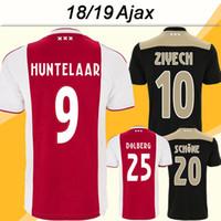 2018 19 Ajax HUNTELAAR Jersey de fútbol DOLBERG ZIYECH Home Away camisetas  de fútbol NERES YOUNES d70dc68916d8b