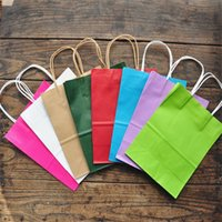 25x32cm 10pcs Colorful Kraft Paper Standing Rope Handle Pack...