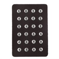Noosa Snap Jewelry 12MM Snap Button Display 10 colores Black Leather Snap Display para 24 PCS Jewelry Display Holder