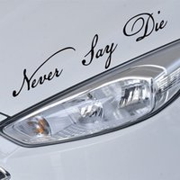 Never Say Die Words Decoration Car Stickers And Decals Car W...