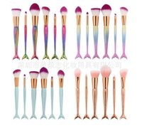 New 11PCS sets Pro Mermaid Makeup Brushes Foundation Eyebrow...