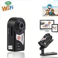 Q7 ميني واي فاي كاميرا لاسلكية DVR كاميرا فيديو مسجل كاميرا الأشعة تحت الحمراء للرؤية الليلية كشف الحركة المدمج في ميكروفون