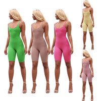 5 Colors Women Yoga Rompers Sleeveless Bodycon Solid Clothin...