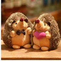 18 cm Bonito Adorável Macio Ouriço Animal Boneca de Pelúcia Recheado de Brinquedo de Pelúcia Crianças Crianças Festa de Casamento Para Casa para Crianças presente do Miúdo