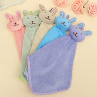 Wholesales 5 Colors 41*21cm Bunny Coral Towel Hanging Towel ...