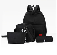 New four- piece SUP brand letter backpack casual breathable c...