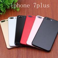 İPhone 7 7Plus Artı 7G Pil Kapı Kapak Kılıf Orta Çerçeve Şasi Vücut Yedek Altın Jet Siyah Gümüş Red için geri Konut