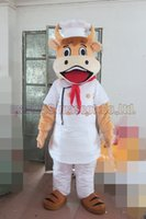 Chef cow mascot costume Free Shipping Adult Size, New cow mas...