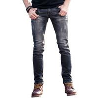 2018 New Grey European Jeans Mens High Quality Four seasons Pantalones vaqueros del dril de algodón para hombres pantalones Designer Cotton man brand jean