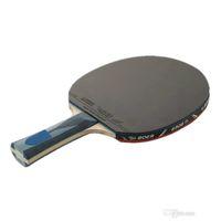 Durable 1 unids Raqueta de Tenis de Mesa Ping Pong Paleta Larga / Mango Corto Profesional Raqueta de Tenis de Mesa de Carbono Con 3 Bolas 2526002