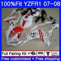 Corpo iniezione per YAMAHA YZF R 1 YZF-1000 YZF-R1 07 08 227HM.37 YZF 1000 YZFR1 07 08 YZF1000 Scorpion Red nuovo YZF R1 2007 2008 Kit carenatura