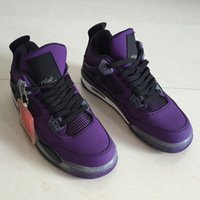 2018 New Travis x 4 Purple Swede Men Basketball Shoes High Q...