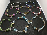 10 цветов пресноводные жемчужные бусины браслет натуральные моды жемчужные украшения регулируемые браслет чармы женские подарок любовь желаю жемчуга украшения