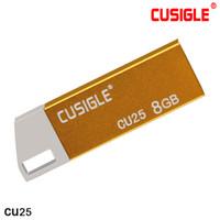 CUSGLE CU25 금속 16GB 32GB 64GB에서 USB 플래시 드라이브에서 둥근 사각형 구멍이있는 아연 합금 쉘 휴대 성