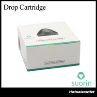 Аутентичные Suorin Drop Cart Pods 2 мл Уникальная головка катушки Идеально подходит для Suorin Drop Starter Kit 100% оригинал DHL Free