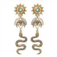 Hot style original design retro style stud earrings turquois...