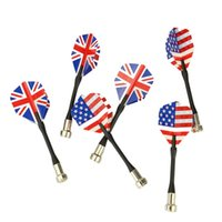 6pcs Bullseye Target Game National Flag Flights Darts Magnet...