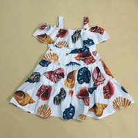 Retail baby girl dress summer 2018 casual dresses cotton kid...