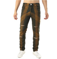 New Fashion Men Holes Jeans European High Street Distressed ...