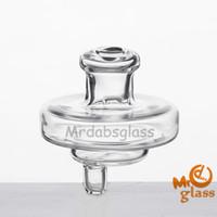 High Borosilicate Glass Neue Universal UFO Glas Carb Cap Hut Stil Mit 34mm Durchmesser Runde Kugelkuppel für Quarz Thermal Banger Glas Bong