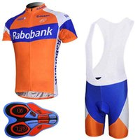RABOBANK team Cycling Short Sleeves jersey (bib) shorts sets Sportswear  sets Breathable quick dry summer ropa ciclismo hombre 92712F 8b12c4d46