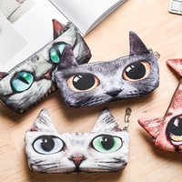 Creative Pencil Bags Case Cat Stationery Pen Bag Make up Bag...