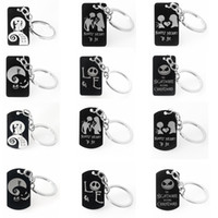 12 Styles Holloween Jack and Sally Keyring 12Styles Key Chai...