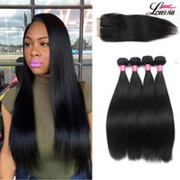 8A Peruvian Straight Hair With 4x4 Closure Wholseale Peruvia...