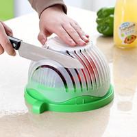 Salade Cutter Bol Cuisine Gadget Légumes Fruits Slicer Lave-linge Et Cutter Toot de cuisine à salade rapide