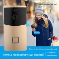 Nova Chegada porta interfone telefone IP nuvem P2P sem fio da porta do carrilhão wifi telefone da porta da câmera sino de segurança em casa inteligente