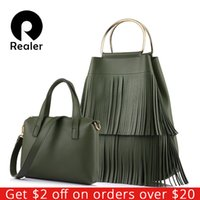 REALER brand new design fashion women large handbag with tas...